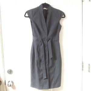 Sleeveless collared a line Calvin Klein dress Sz2
